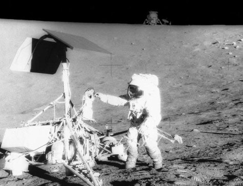 Image: Pete Conrad on the moon